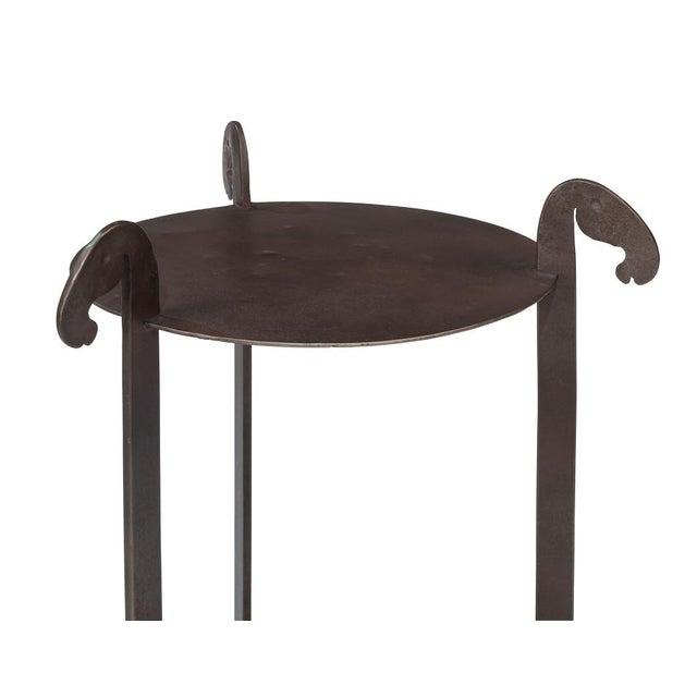 Sarreid Ltd. Sarreid Forged Horse Leg Side Table For Sale - Image 4 of 13