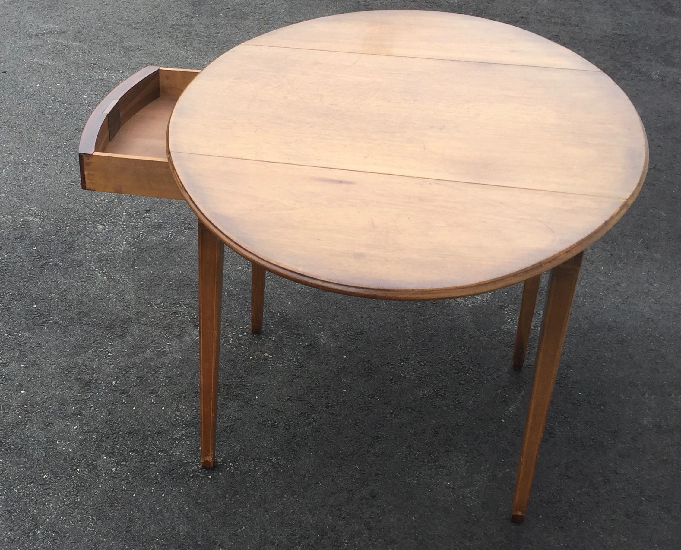 Kittinger Antique Drop Leaf Side Table Dining Table Chairish