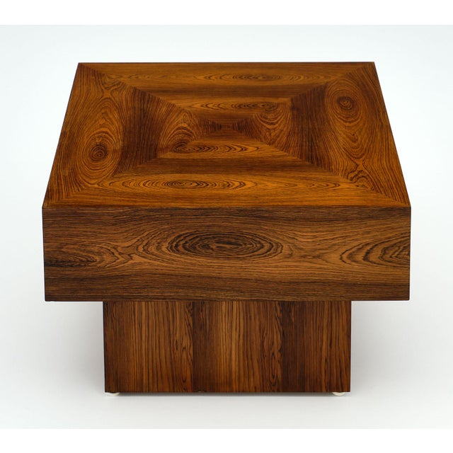 Cubist French Wood Side Table For Sale In Austin - Image 6 of 11