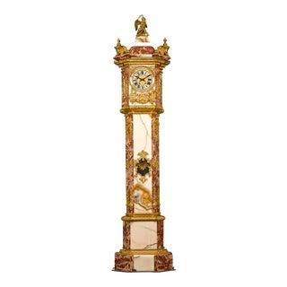 Napoleon Iii Onyx and Marble Longcase Clock For Sale