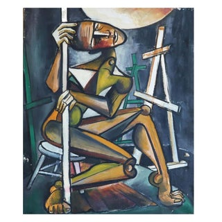 Alvin M. Cohen Original Modern Oil Painting For Sale
