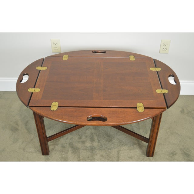 Chippendale Style Mahogany Butlers Coffee Table For Sale In Philadelphia - Image 6 of 13