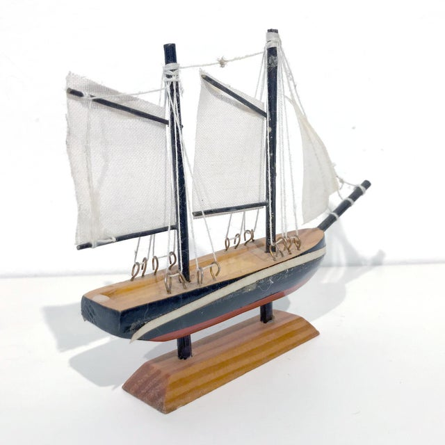 Nautical Wooden Model Sailing Ship - Image 8 of 11