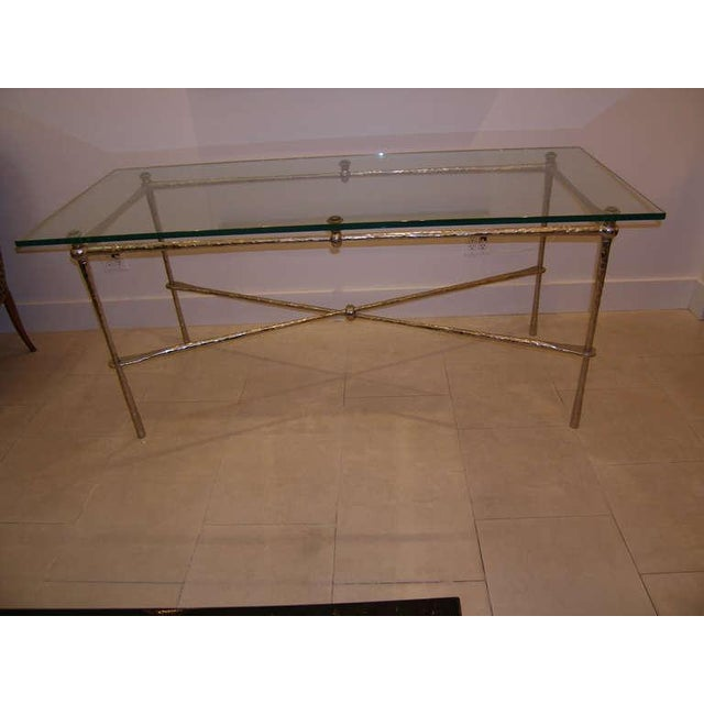 Bronze French Nickel Over Cast Bronze Dining Table/Desk For Sale - Image 7 of 7