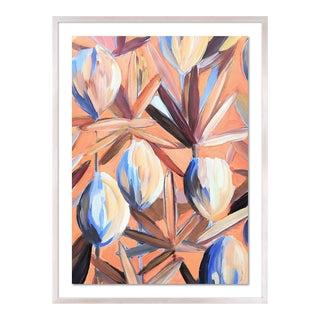 Lyford 1 by Lulu DK in White Wash Framed Paper, Medium Art Print For Sale