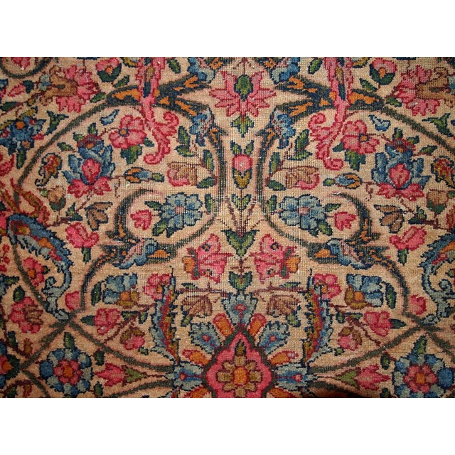 Textile 1920s Hand Made Antique Persian Kerman Rug 3.2' X 4.9' For Sale - Image 7 of 7