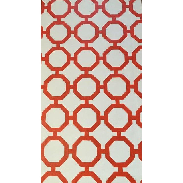 """Orange & White Canvas Rug - 2'6"""" x 5'2"""" - Image 3 of 4"""
