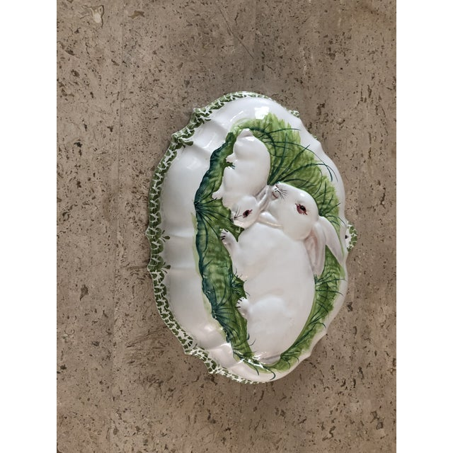 2000 - 2009 Intrada Italian Majolica Bunny Mold For Sale - Image 5 of 7