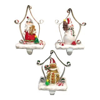 Vintage Christmas Stocking Hooks - Set of 3 For Sale