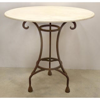 Wrought Iron Bistro Table W/ a Stone Top Preview
