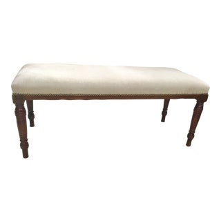 19th Century Upholstered Banquette Bench