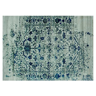 Stark Studio Rugs Contemporary New Oriental Indian Wool Rug - 9′10″ × 13′9″ For Sale