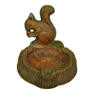 Bavarian Carved Wooden Squirrel Ashtray For Sale