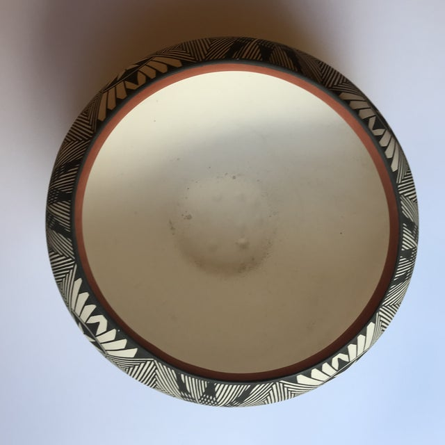 Acoma Pueblo Pottery Polychrome Bowl Signed Chino For Sale - Image 9 of 13