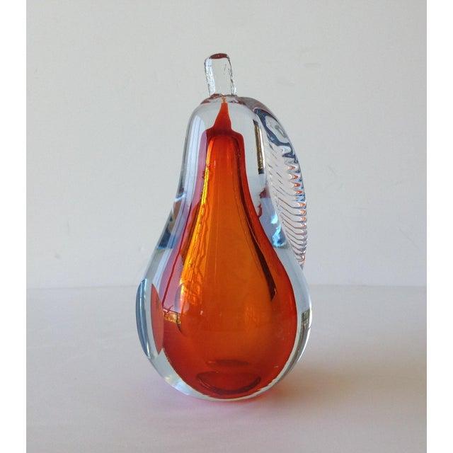 Alfredo Barbini Hand-Blown Murano Pear Bookend - Image 7 of 10