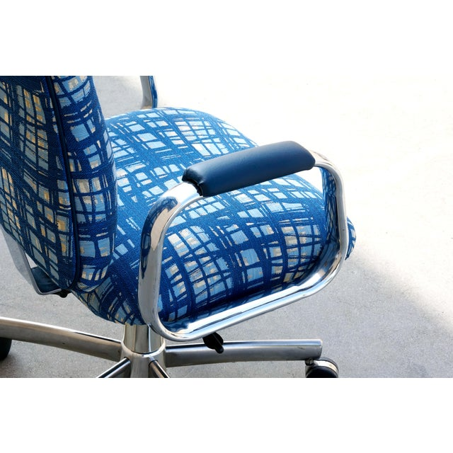 1990s Vintage SteelCase Executive Steno Armchair, Refinished For Sale - Image 5 of 7