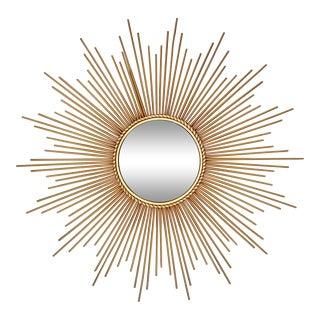 Mid-Century Modern Sunburst Convex Mirror For Sale
