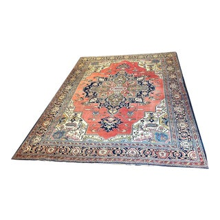 1920s Antique Worn Out Tabreez Rug For Sale