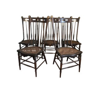 1960s Vintage Parisian Chic Dining Chairs - Set of 5 For Sale