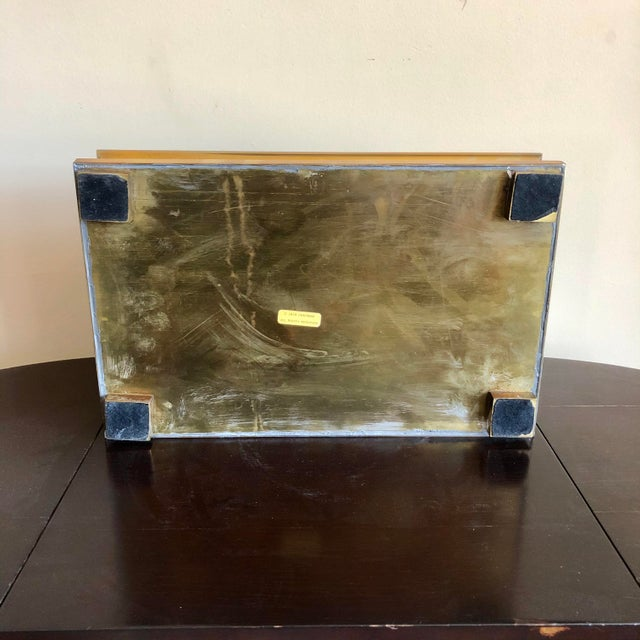 1970s 1978 Chapman Brass Pagoda Box For Sale - Image 5 of 7