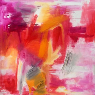 """""""Morning Glory"""" by Trixie Pitts Large Abstract Expressionist Oil Painting For Sale"""
