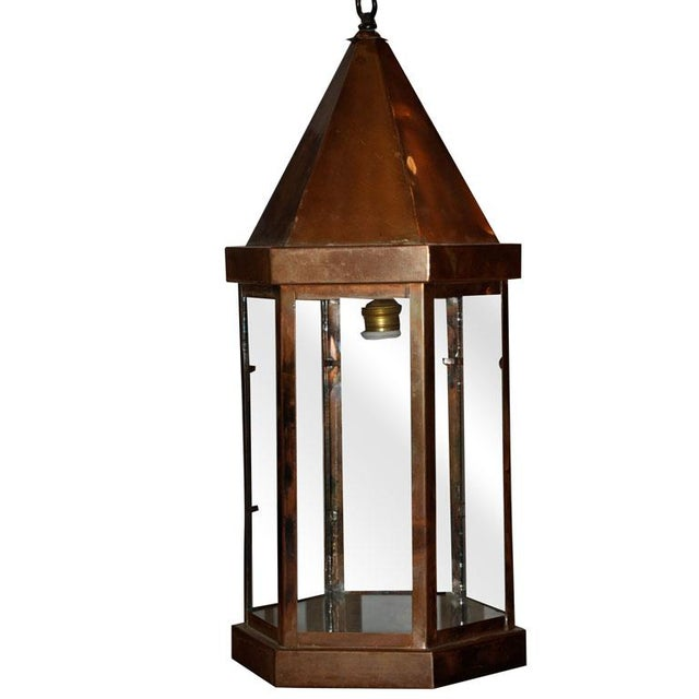 Copper Hanging Lantern For Sale In Los Angeles - Image 6 of 6