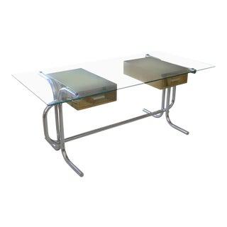 1970's Tubular Italian Desk For Sale