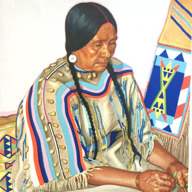 Rustic 1940s Blackfoot Indian Print by Winold Reiss For Sale - Image 3 of 4