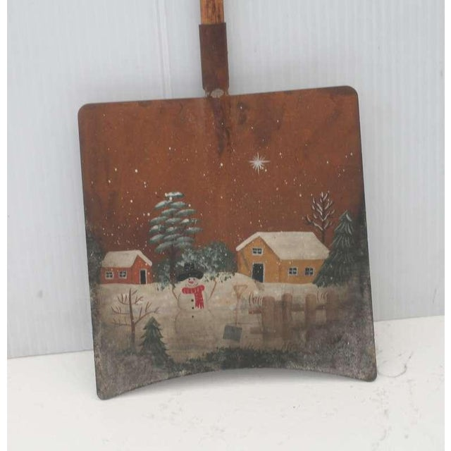 Americana Early Original Paint Decorated Children's Shovel For Sale - Image 3 of 4