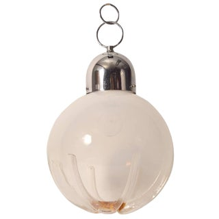 Hanging Ball Fixture by Mazzega For Sale