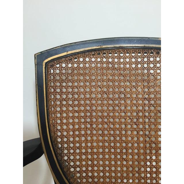 Hepplewhite Style Ebony Chinoiserie Chair - Image 7 of 10