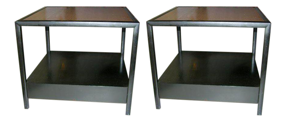 Michael Taylor For Baker Furniture Square Lamp Tables   A Pair   Image 1 Of  8