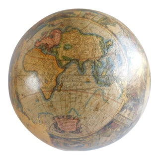 Vintage Papier Mache Old World Globe