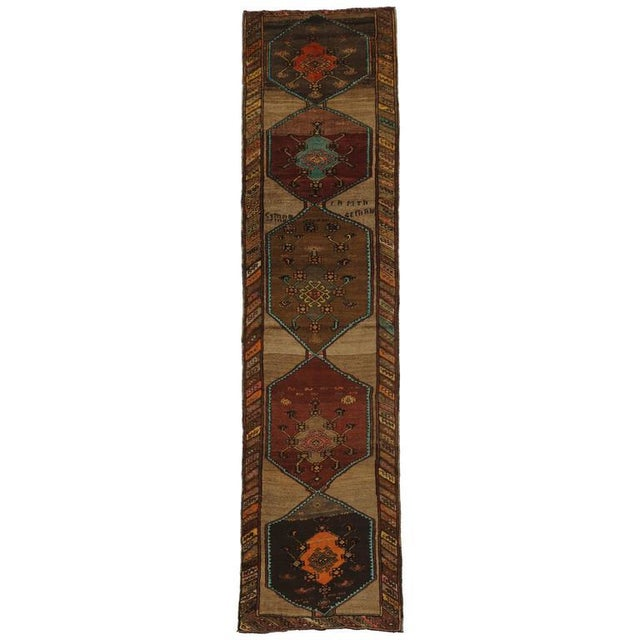 Mid 20th Century 20th Century Turkish Oushak Runner For Sale - Image 5 of 5