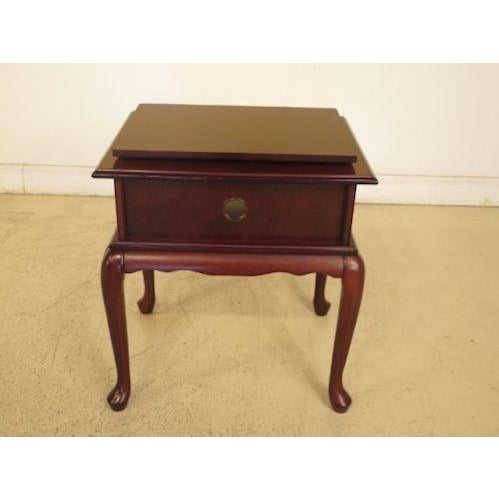 Bombay Company Queen Anne Cherry Tv Stand Chairish
