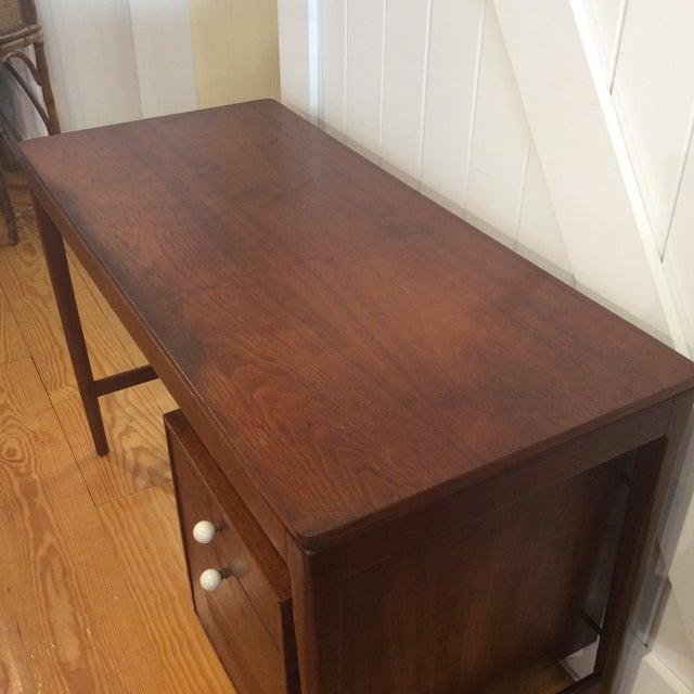 Drexel Mid-Century Walnut Desk - Image 6 of 11