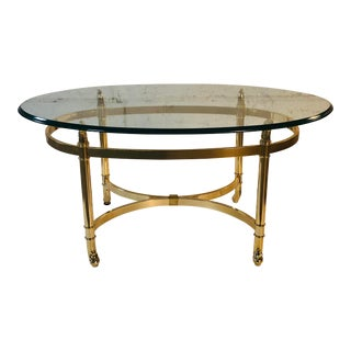 Vintage LaBarge Style Small Oval Coffee Table For Sale