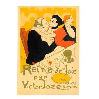 Reine De Joie, Toulouse-Lautrec, Chromolithograph, 1951, Matted For Sale