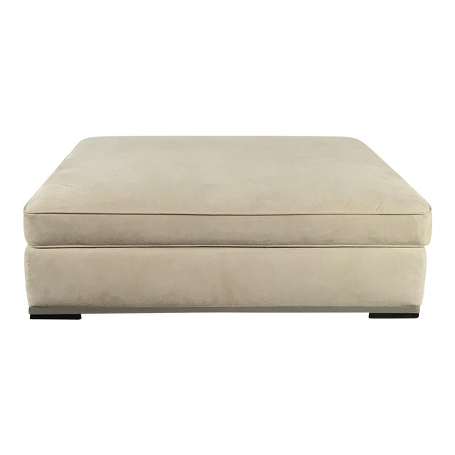 Maxalto 'Intervallum' Microsuede Ottoman by Antonio Citterio For Sale