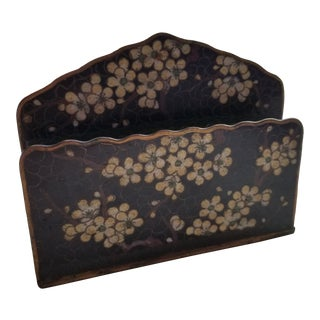 Cherry Blossom Cloisonne Letter Holder For Sale