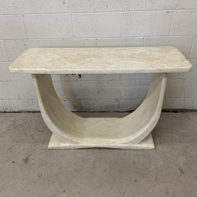 Cultured Marble Console Table For Sale - Image 11 of 11