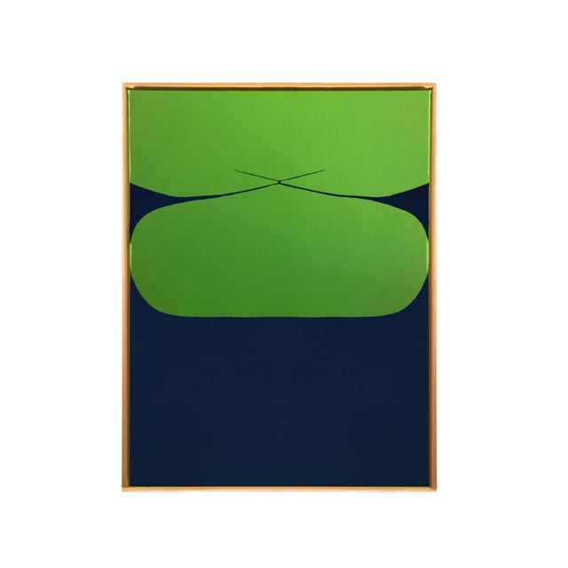2020s Contemporary Minimalist Abstract Hard Edge Acrylic and Gouache Painting by Brooks Burns, Framed For Sale - Image 5 of 5