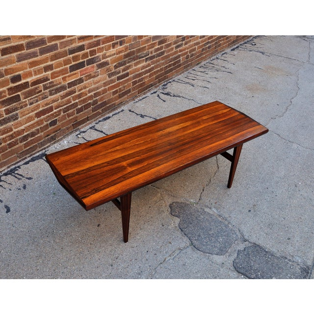Mid-Century Danish Rosewood Coffee Table - Image 7 of 8