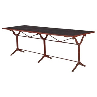 French Red & Black Bistro Restaurant Table