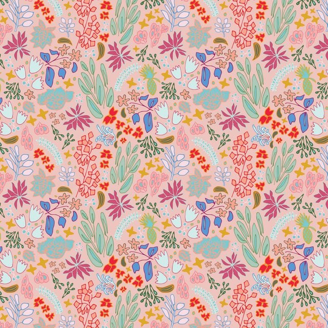 House of Harris Cambridge Wallpaper, 30 Yards, Peach For Sale - Image 4 of 4