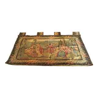 Vintage French Romantic Theme Hanging Wall Tapestry For Sale