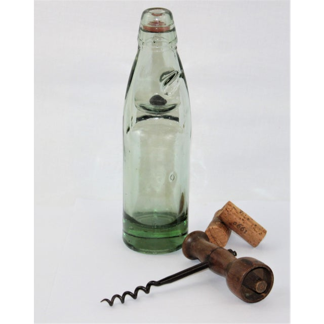 Metal Antique English Codd Bottle With Codd Bottle Opener, Corkscrew - a Pair For Sale - Image 7 of 9