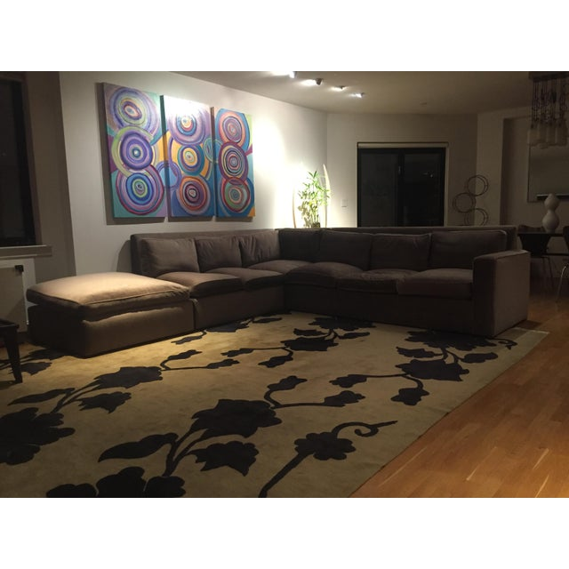 Custom Made Sectional Sofa & Ottoman - Image 3 of 7