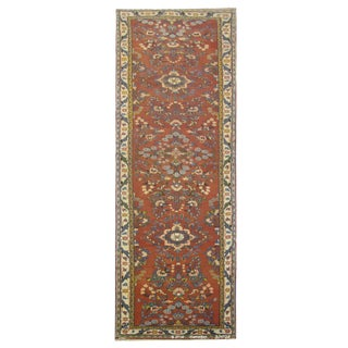 "Vintage Persian Hamedan Runner Rug - 3'3"" x 13'4"" For Sale"