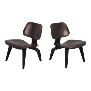 Pair of Eames Ebonized LCWs for Herman Miller For Sale